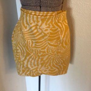 H&M yellow and cream skirt